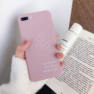 Cream silicon soft iPhone7/8 plus cases